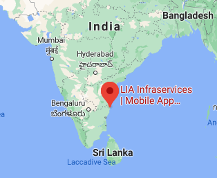 How to set the draggable Map view in Android - Lia Infraservices - Mobile app development company in Chennai